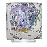 Ice Castle Shower Curtain