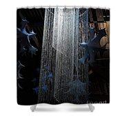 Winterfest Chandelier Spotlight Shower Curtain