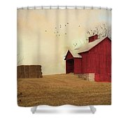 Winter's Arrival Shower Curtain