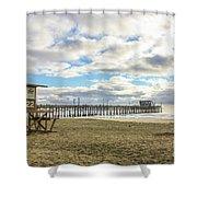 Winters Beach Shower Curtain