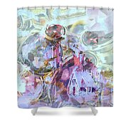 Winters Blast Shower Curtain