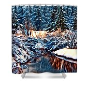 Winter's Bliss Shower Curtain