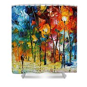 Winter's Chill Wind Shower Curtain