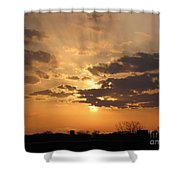 Winters Dawn Shower Curtain
