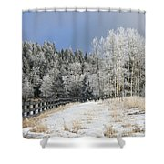 Winters Day In The Mountains Shower Curtain