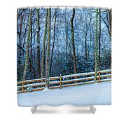 Winters Day - Pisgah Forest Nc Shower Curtain