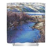 Winter's Edge, Flat Creek Jackson Shower Curtain