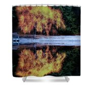 Winters' Embers Shower Curtain