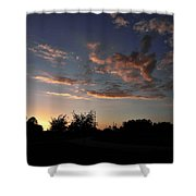 Winters Evening Shower Curtain