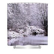 Winters First Icy Breath Shower Curtain