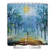 Winter's Fog Shower Curtain