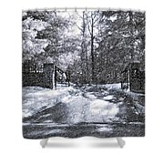 Winter's Gates Shower Curtain