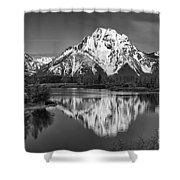 Winter's Last Hold Shower Curtain
