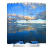 Winter's Refection Shower Curtain