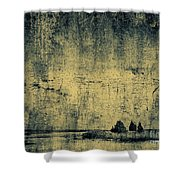 Winters Silence Shower Curtain