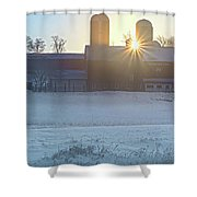 Winter's Welcome Shower Curtain