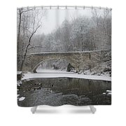 Wintertime In The Wissahickon Valley Shower Curtain