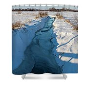 Wintery Creek Shower Curtain