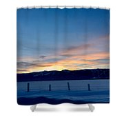 Wintery Sunrises  Shower Curtain