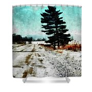 Wintry Altona Road Shower Curtain