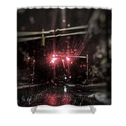 Wintry Drivings Shower Curtain