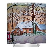 Wintry Evening Shower Curtain