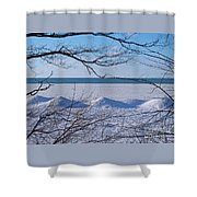 Wintry Lakeshore Shower Curtain