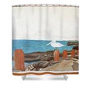 Wip- Pelican 01 Shower Curtain