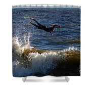 Wipe Out Shower Curtain