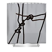 Wire And Snow Shower Curtain