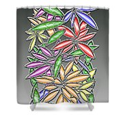 Wire Flowers Shower Curtain