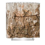 Wire In Wood Shower Curtain