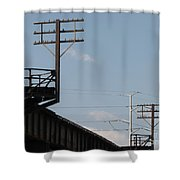 Wire Terminal Structures Shower Curtain