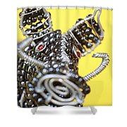 Wire Warthog Shower Curtain