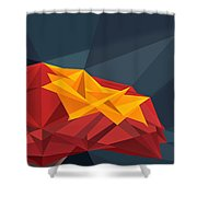 Wired Tree  Shower Curtain