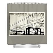 Wires And Coils Silhouette Shower Curtain