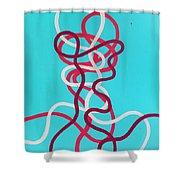 Wires Shower Curtain by Daniel Hannih