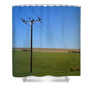 Wires Shower Curtain