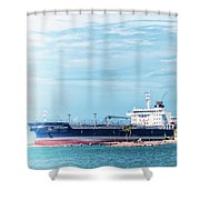 Wisby Atlantic - Incoming Ship Shower Curtain