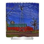 Wisconsin Amish Farm Shower Curtain