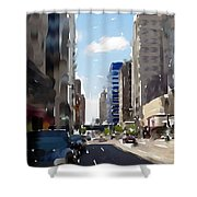 Wisconsin Ave 2 Shower Curtain