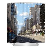 Wisconsin Ave Cubist Shower Curtain