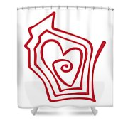 Wisconsin Drawn Shower Curtain