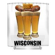 Wisconsin Food Pyramid Shower Curtain