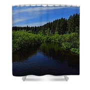 Wisconsin River In Vilas County Shower Curtain