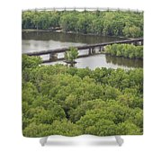 Wisconsin River Overlook 2 Shower Curtain