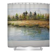 Wisconsin River Shower Curtain