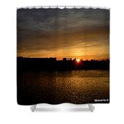 Wisconsin Sunset 10 Shower Curtain