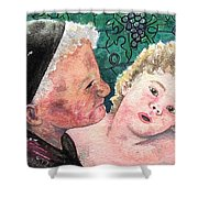 Wisdom And Innocence Shower Curtain
