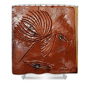 Wise Eyes - Tile Shower Curtain